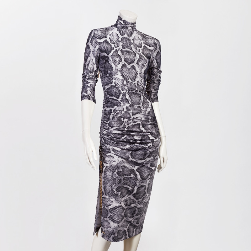 SNAKESKIN DRESS IN GREY