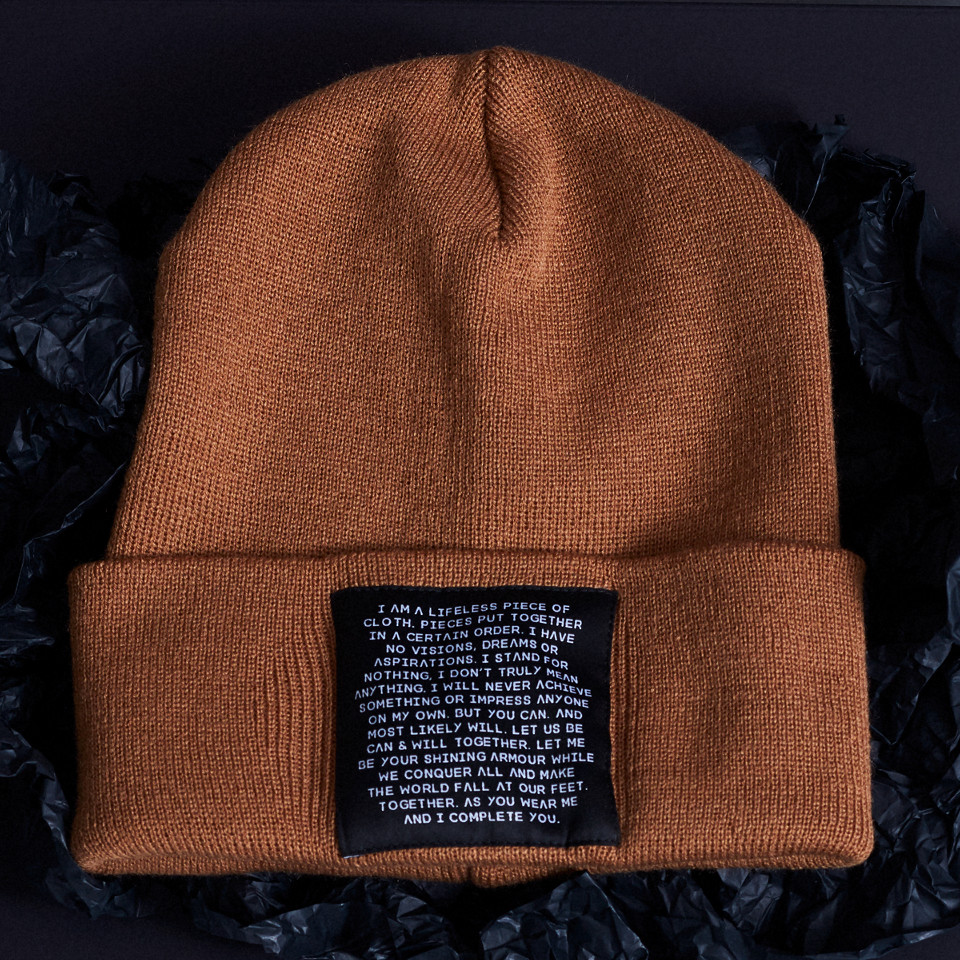 MIND OBJECTS HAT - BROWN, UNISEX