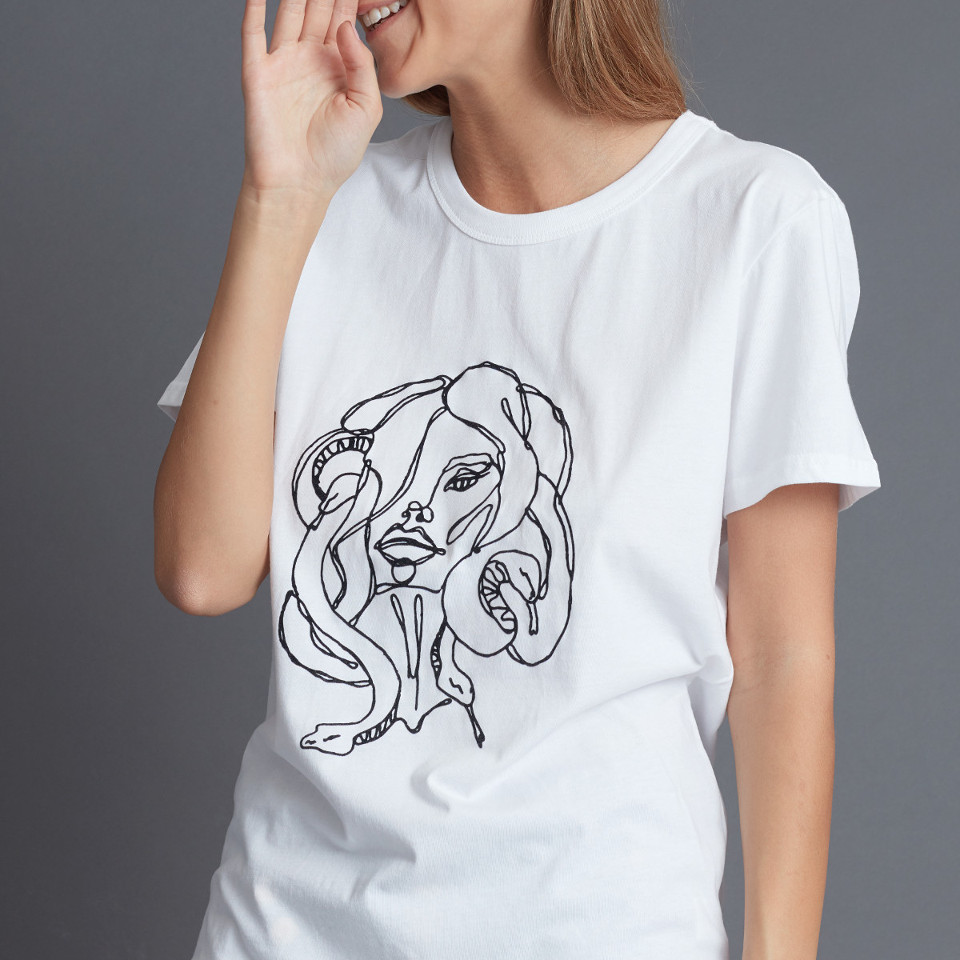 MEDUSA T-SHIRT, WHITE