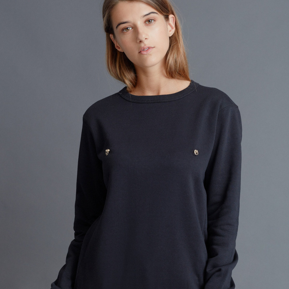 PIERCED JUMPER, BLACK