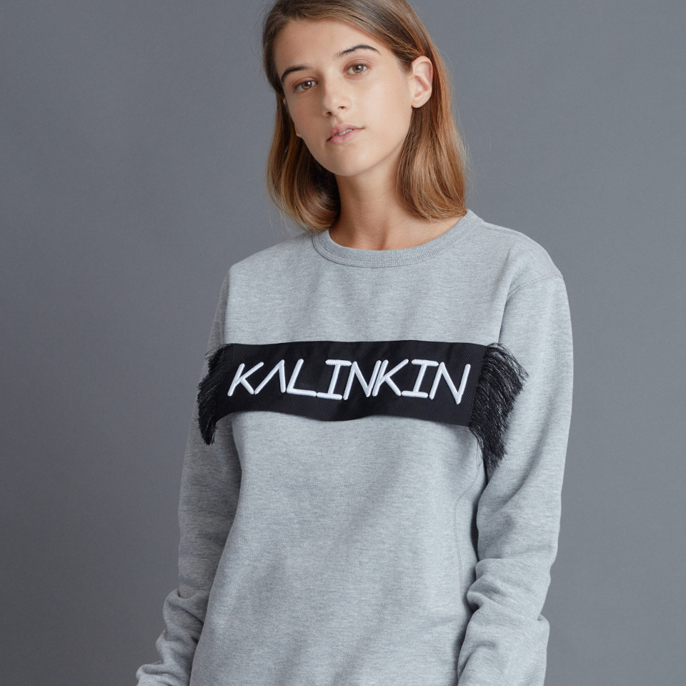 EMBROIDERED KALINKIN JUMPER, GREY