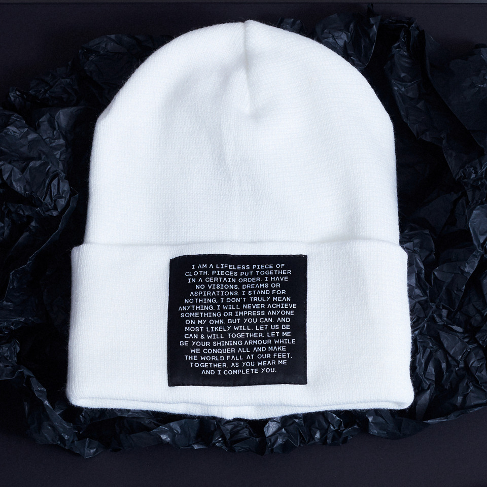 MIND OBJECTS HAT - WHITE, UNISEX