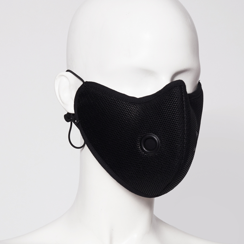 KEEP YOUR DISTANCE MASK, PERFORATED BLACK