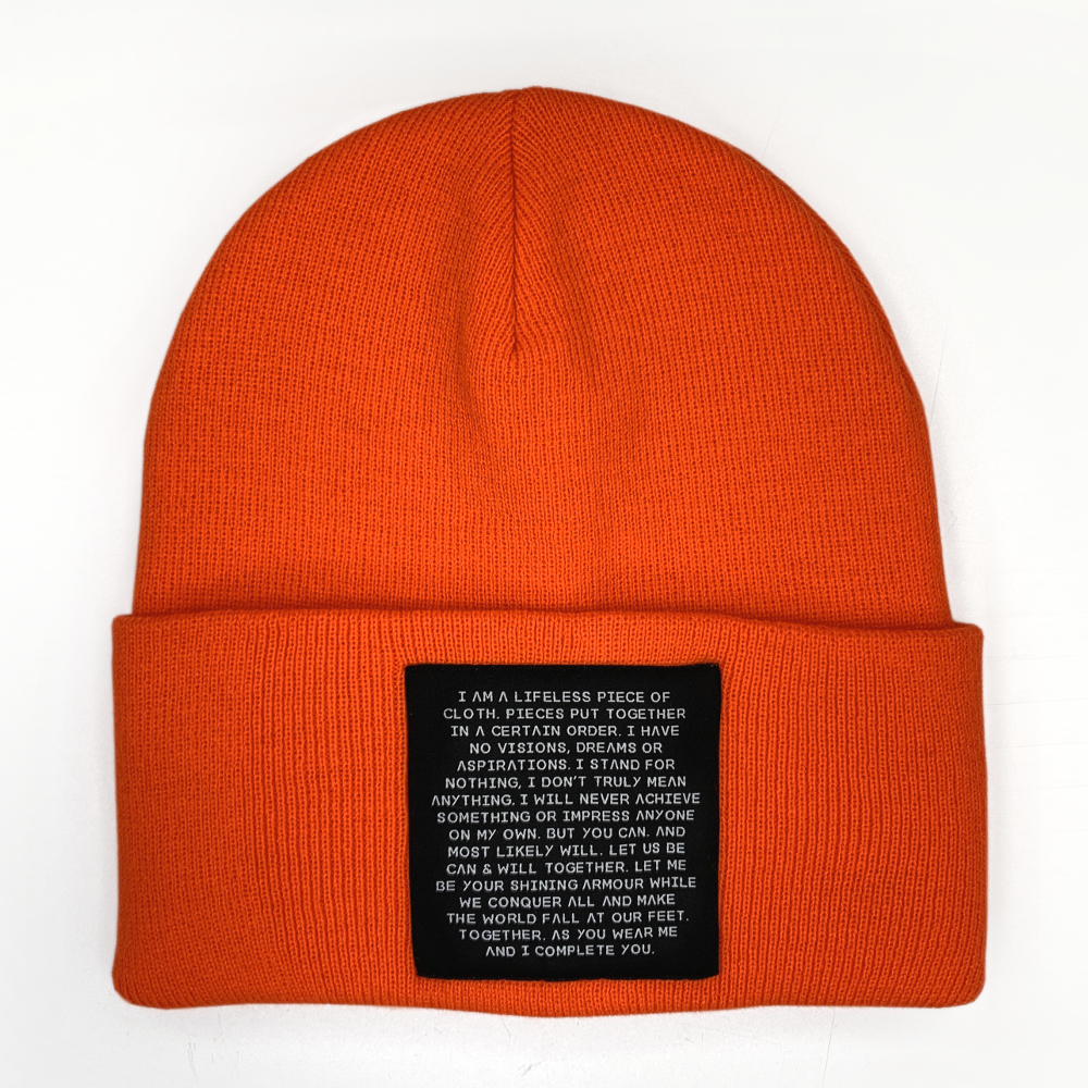 MIND OBJECTS HAT - ORANGE, UNISEX