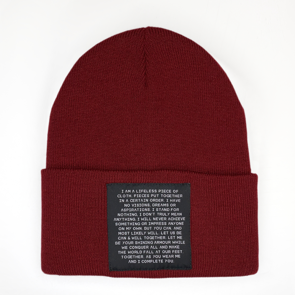MIND OBJECTS HAT - RED, UNISEX