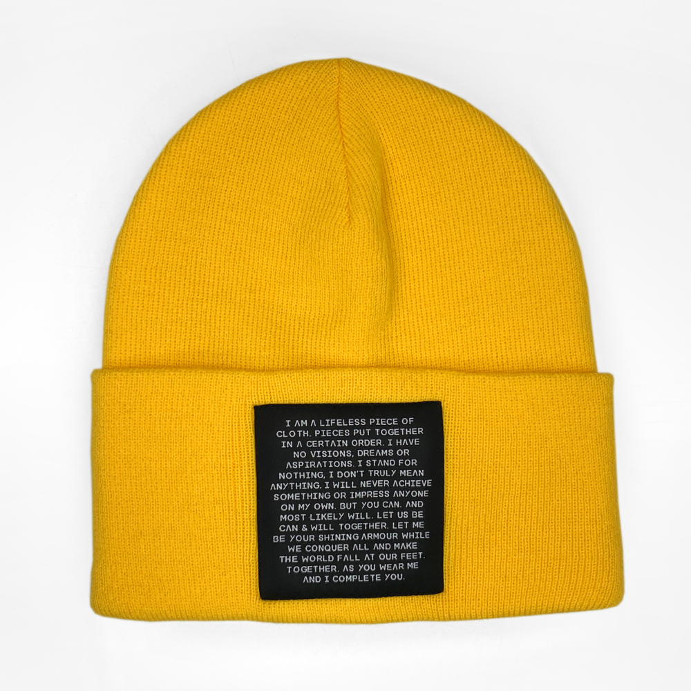 MIND OBJECTS HAT - YELLOW, UNISEX