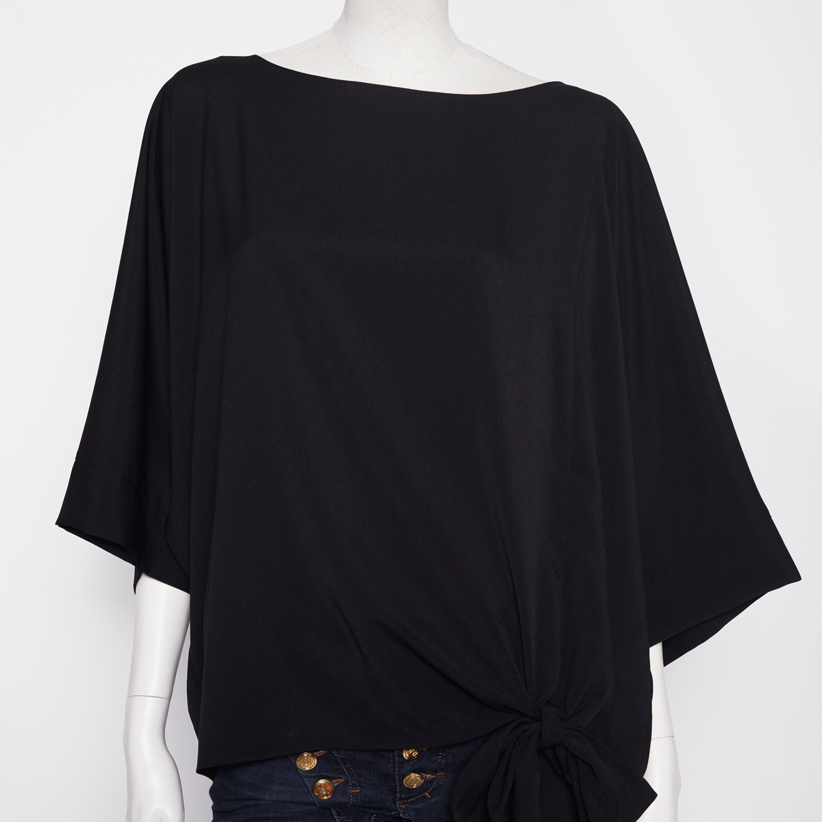 INTO THE OCEAN BLOUSE, BLACK