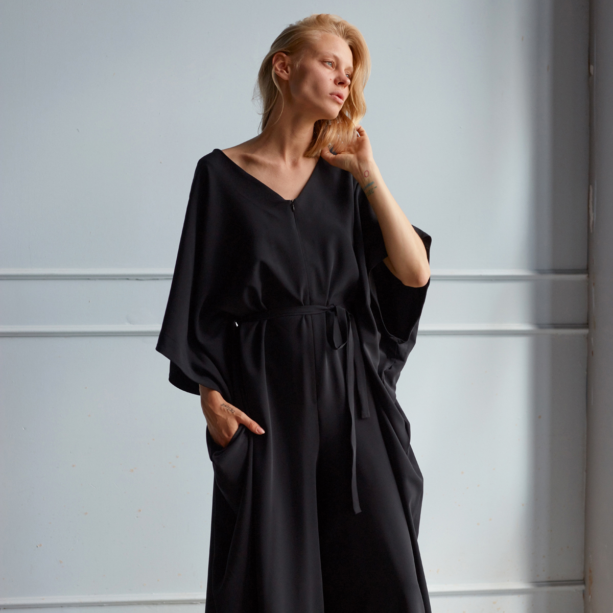 RAVEN JUMPSUIT, BLACK