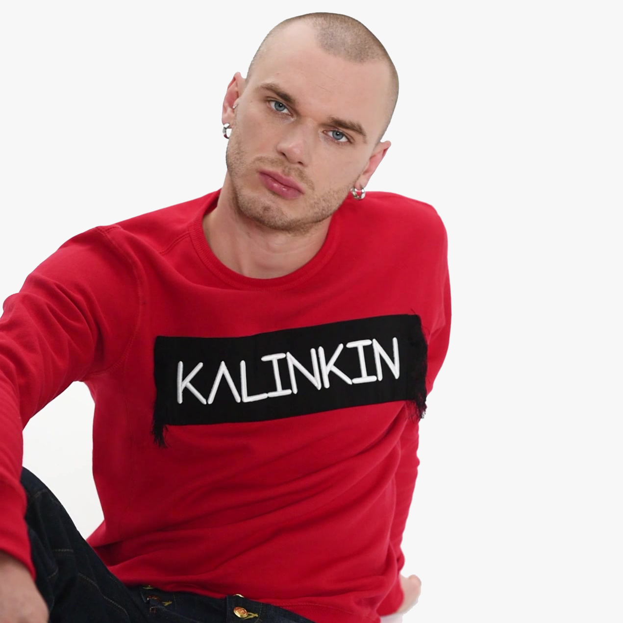 EMBROIDERED KALINKIN JUMPER - RED, UNISEX
