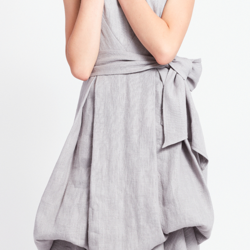 NIDA DRESS,  GREY