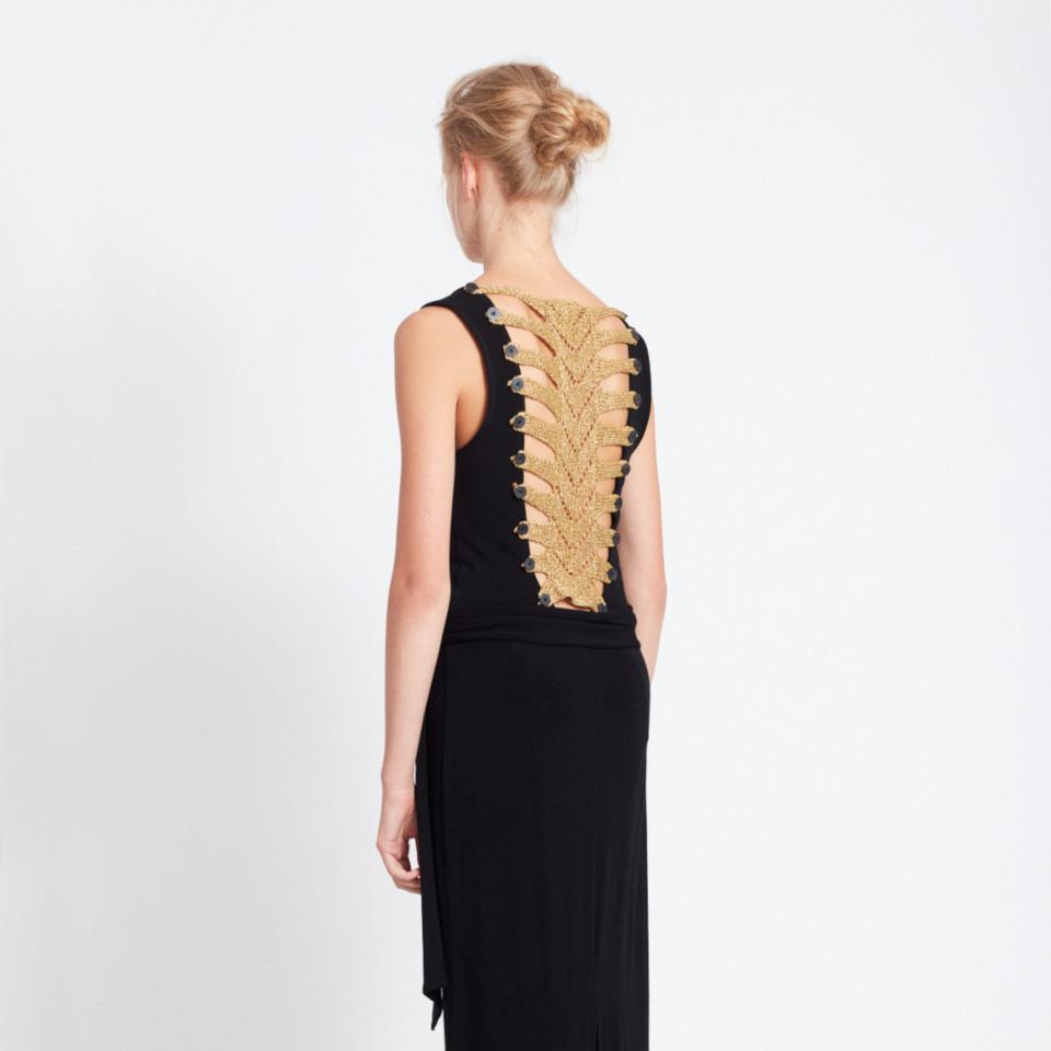SKELETON DRESS in black