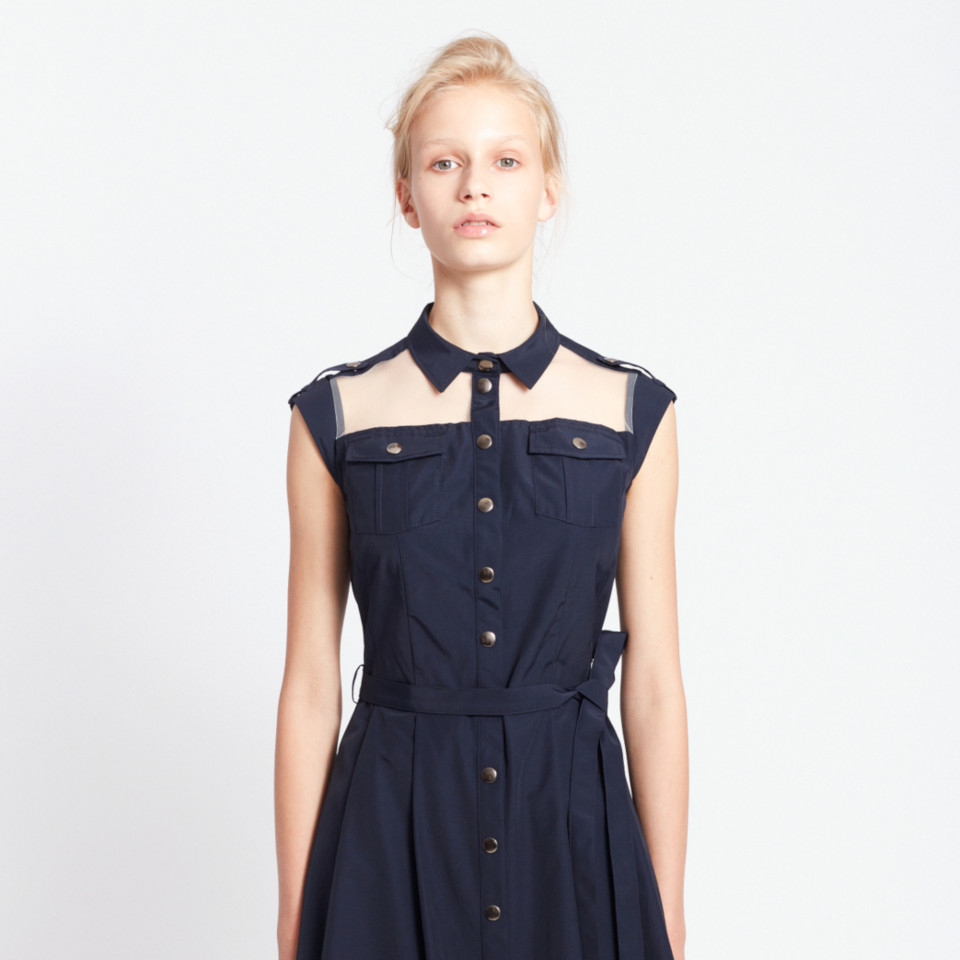 RAINFOREST DRESS, NAVY