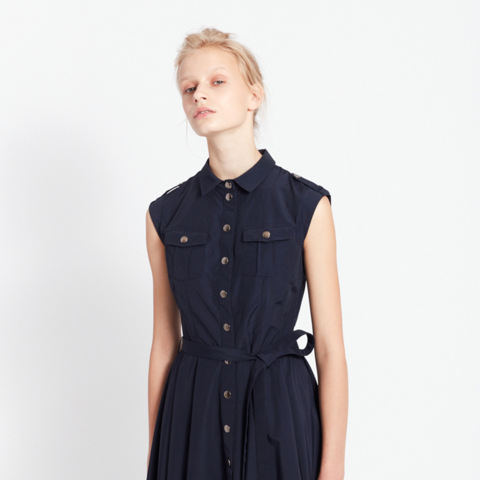 TERRAFORMING DRESS, NAVY