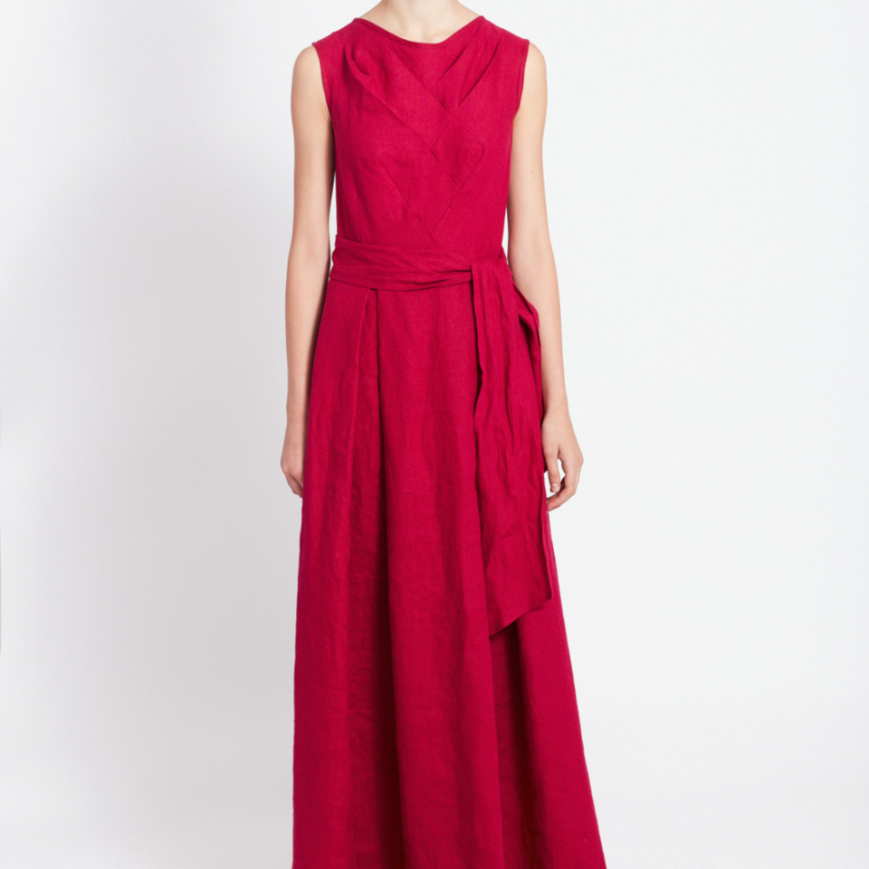 """Nida"" dress in fuchsia-color"