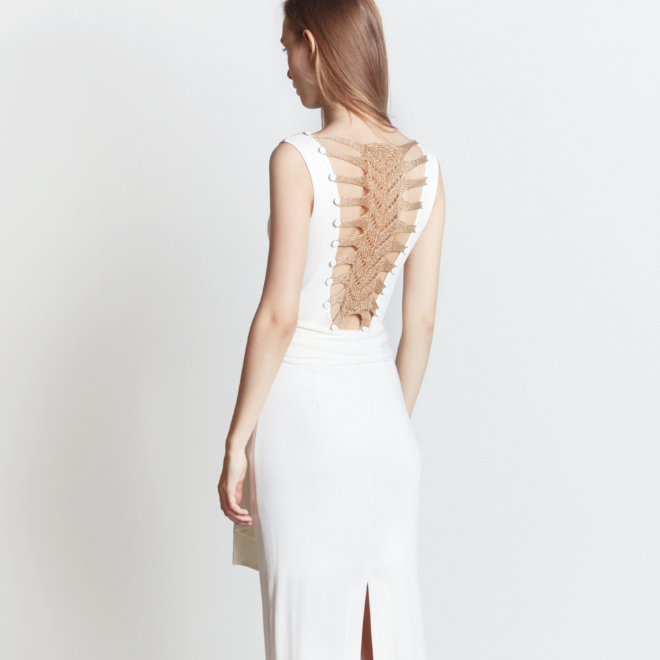 SKELETON DRESS, WHITE