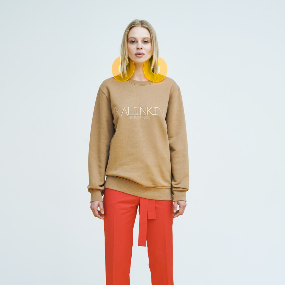 SINCE 1988 SWEATSHIRT, CAMEL