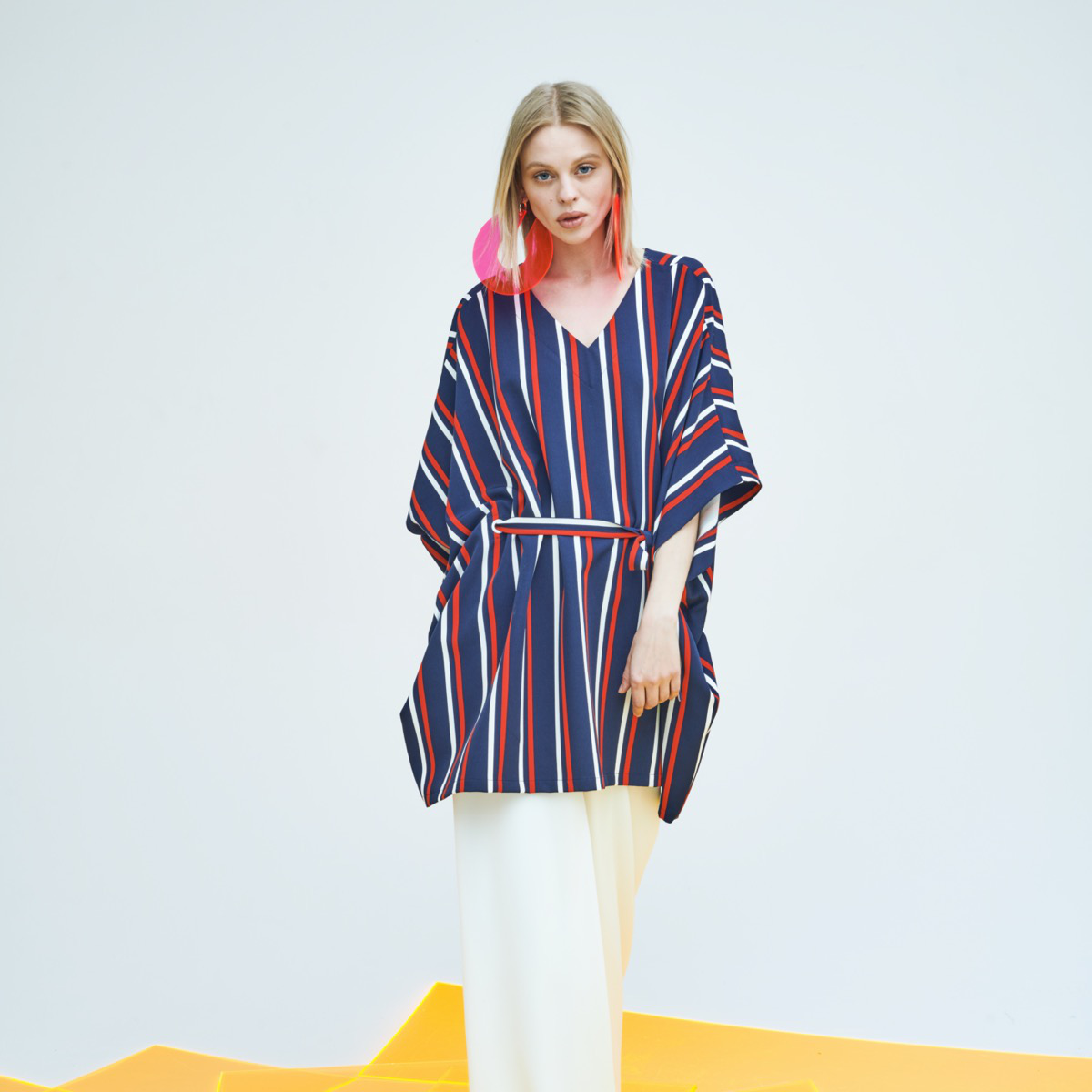 STRIPED PARASOL BLOUSE