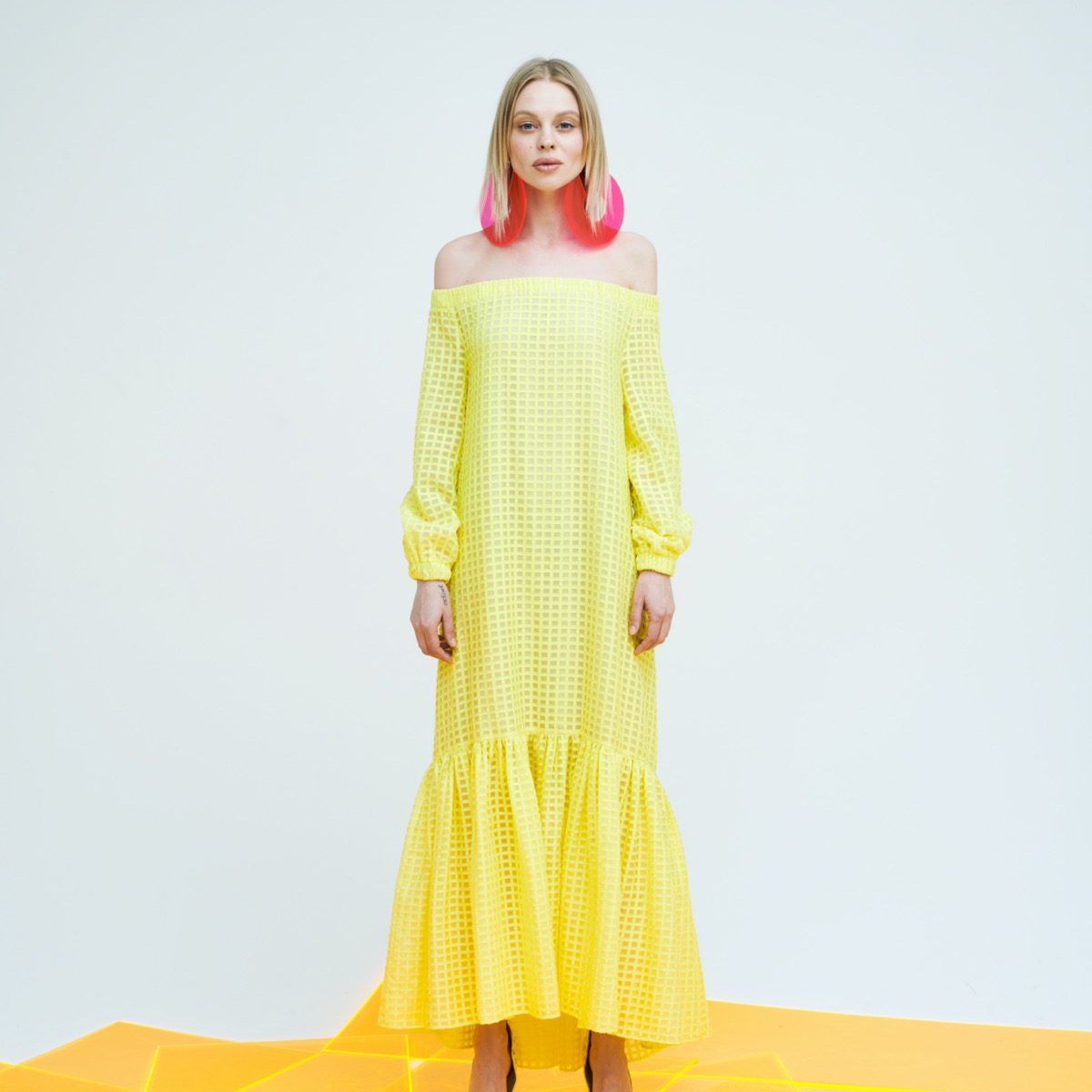 CABARET DRESS, YELLOW