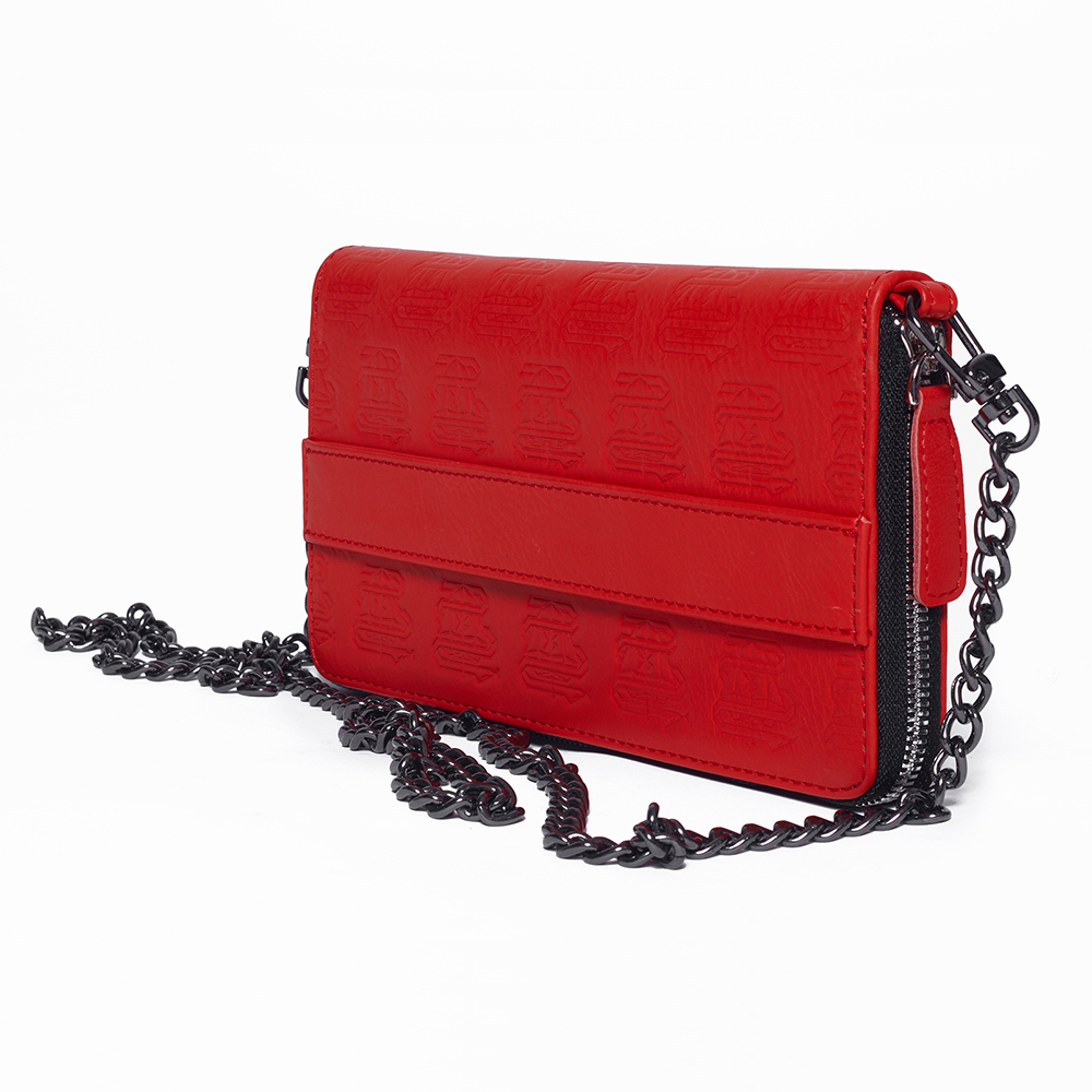 PATTERNS WALLET IN RED