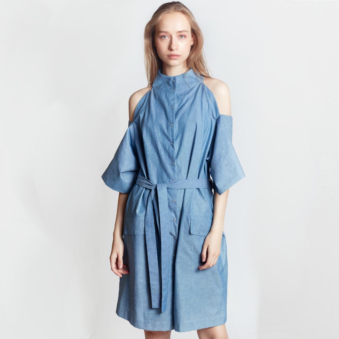 SIMPLE SYMMETRY DRESS