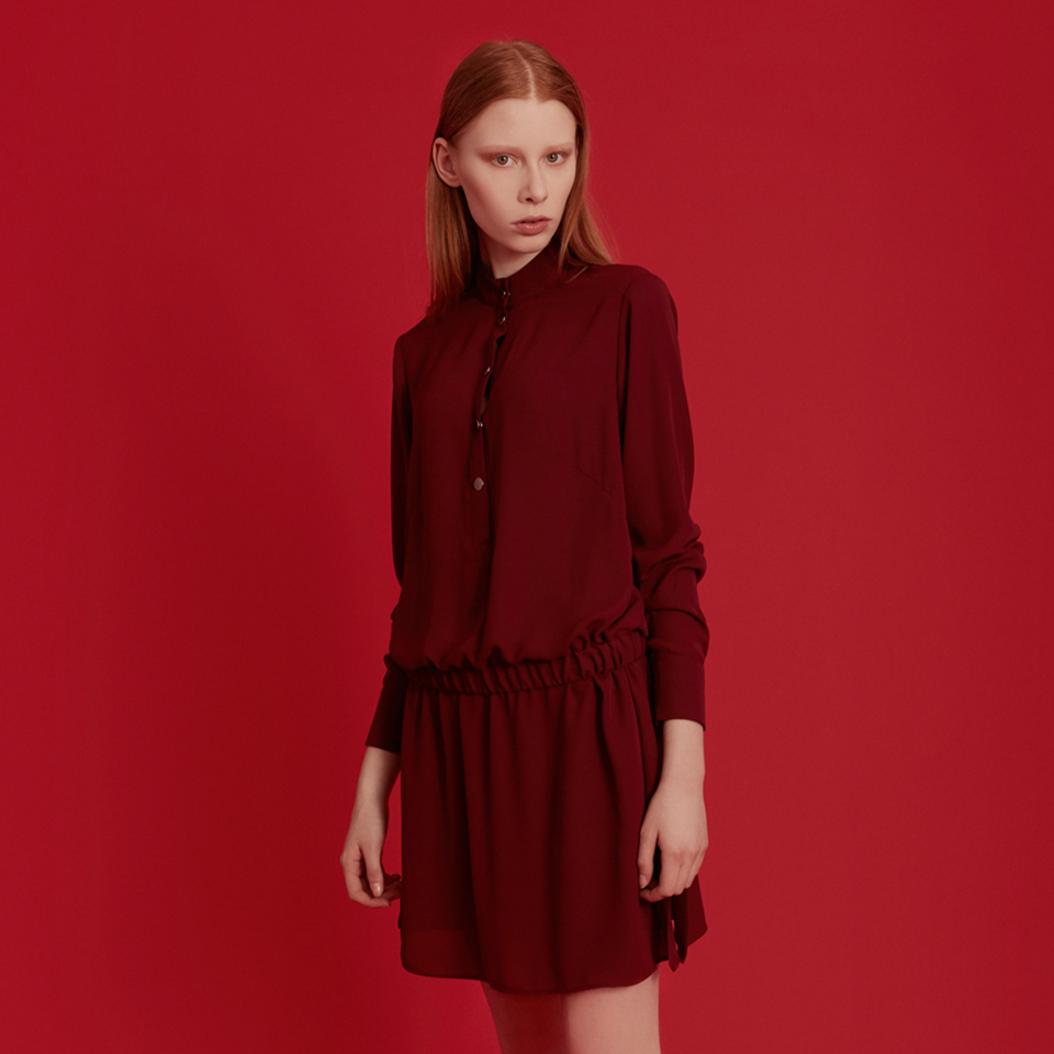 MISS LUCIFER dress - burgundy
