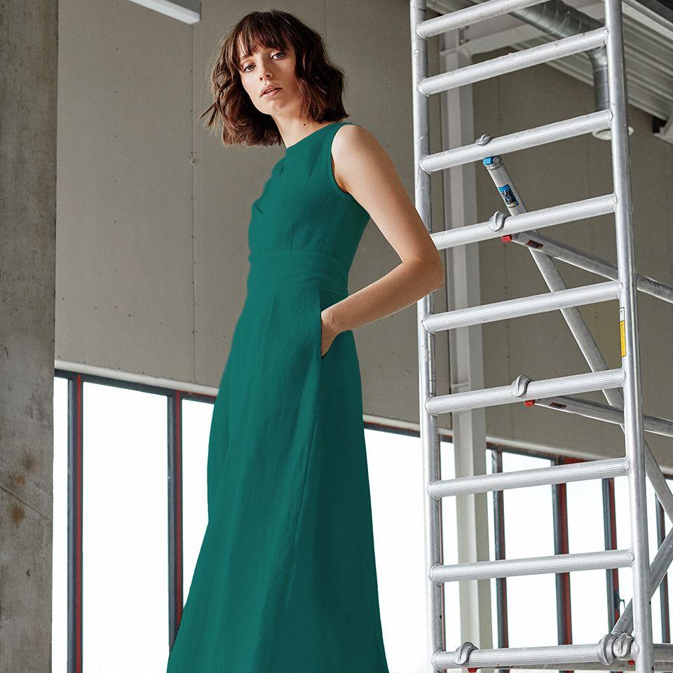 """Nida"" dress in green"