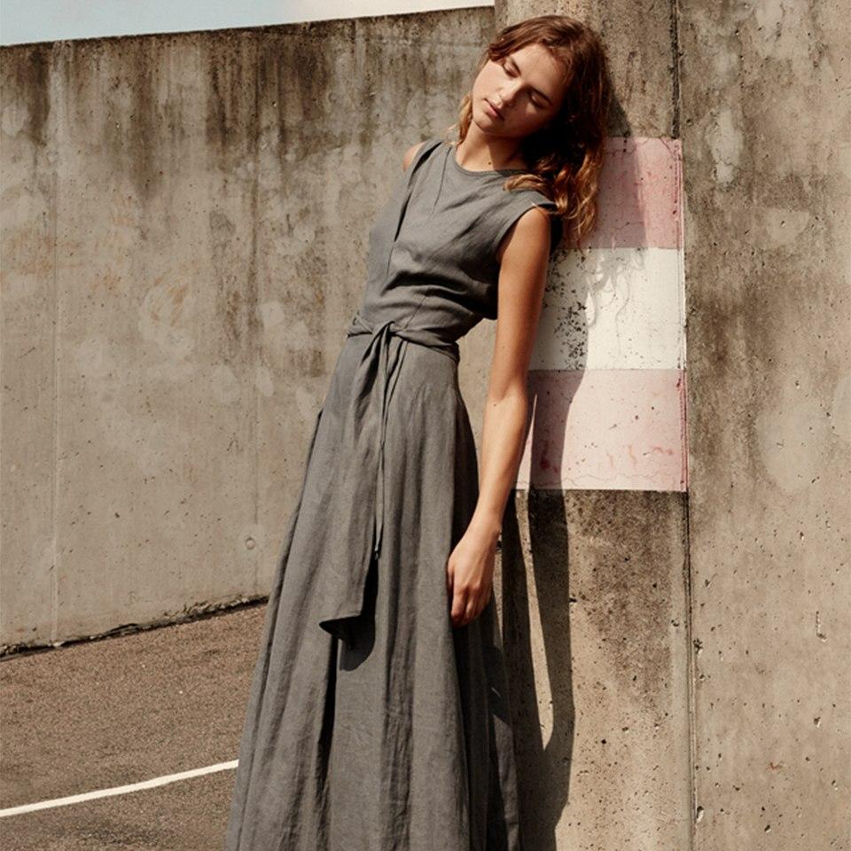 """""""Nida"""" dress in granite"""