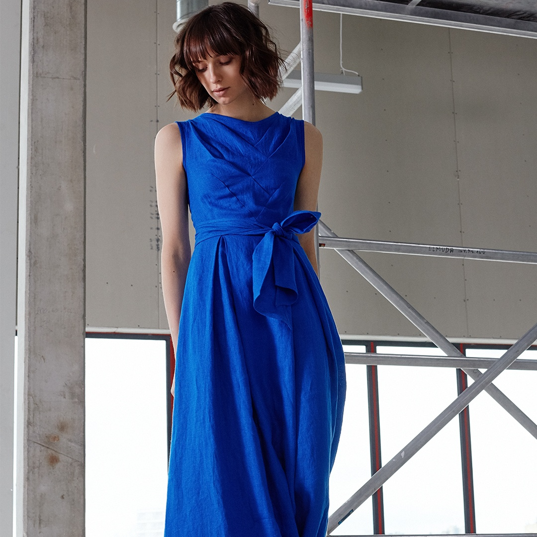 """Nida"" dress in blue"