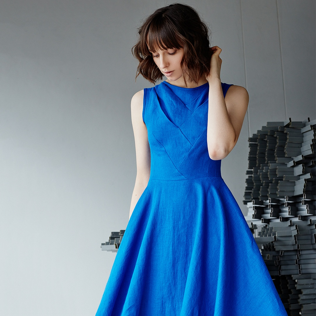 """River"" dress in blue"