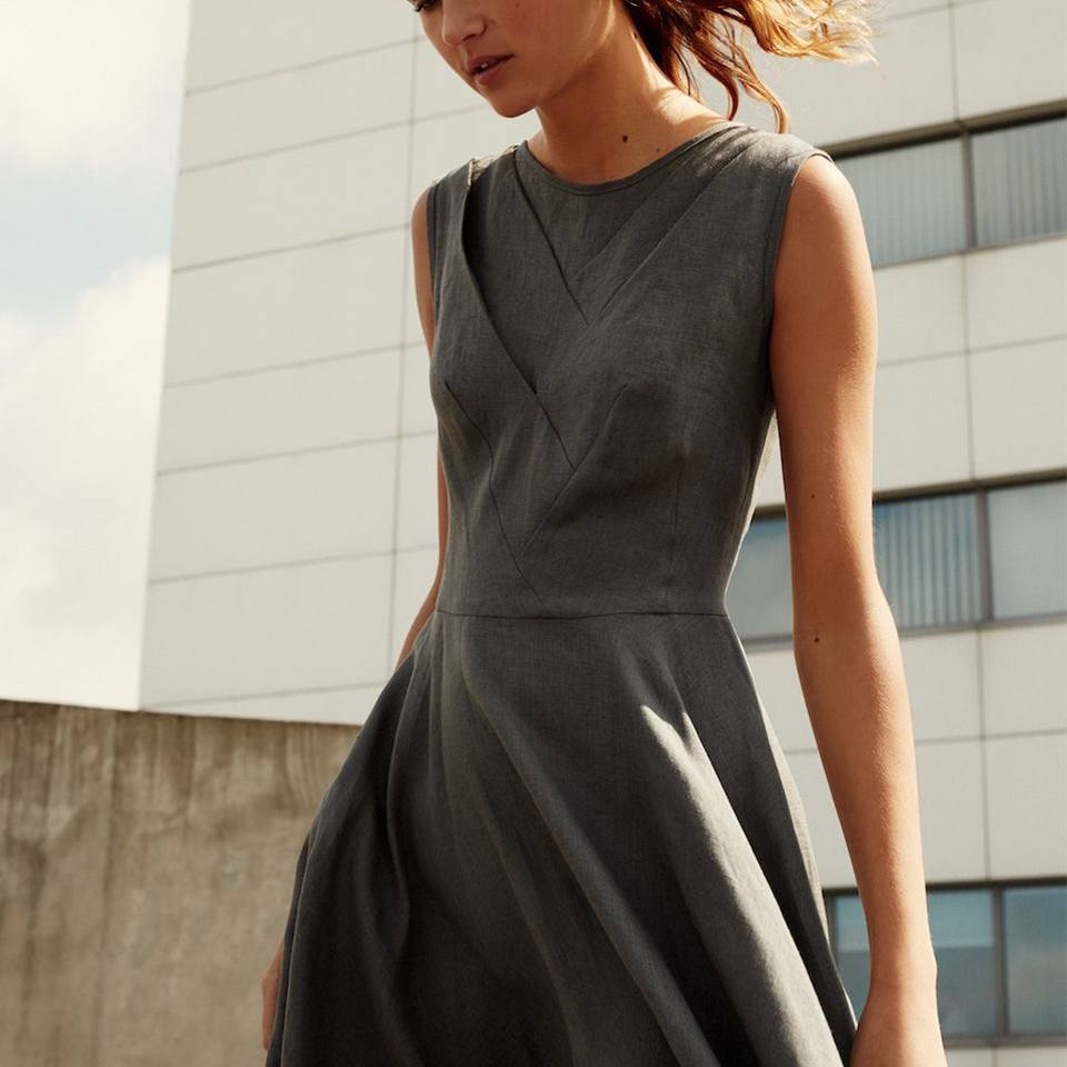"""River"" dress in granite"