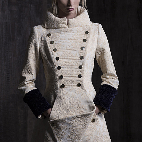 MILK WHITE BAROQUE COAT