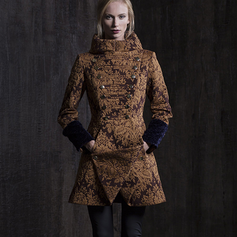 CHOCOLATE BAROQUE COAT