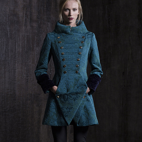 EMERALD GREEN BAROQUE COAT