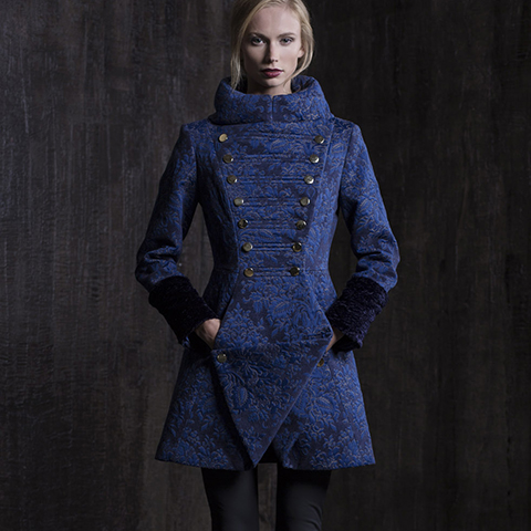 ROYAL BLUE BAROQUE COAT