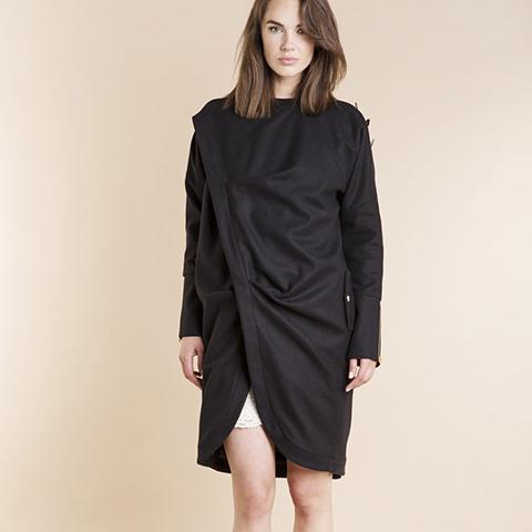 NEW CLASSIC BLACK COAT