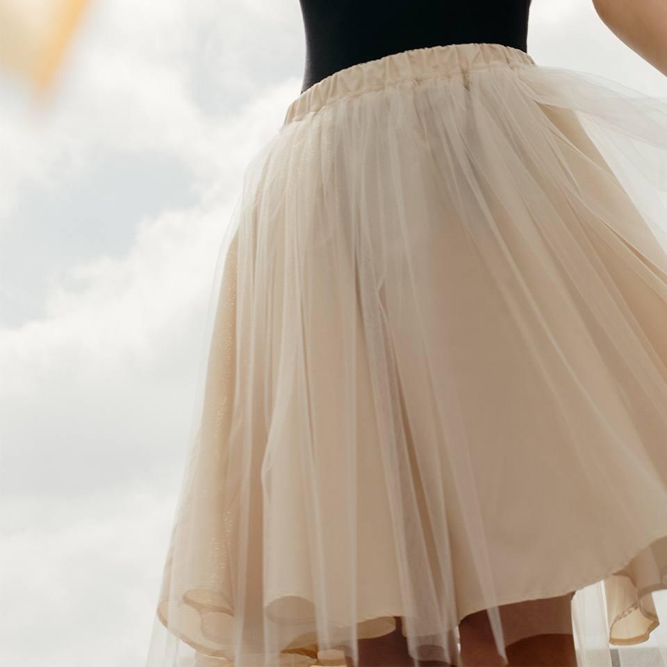 Nude Aurora skirt