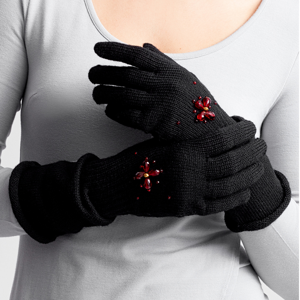 HER MAJESTY gloves - black