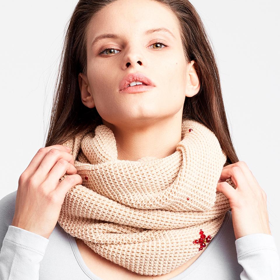 HER MAJESTY scarf - beige
