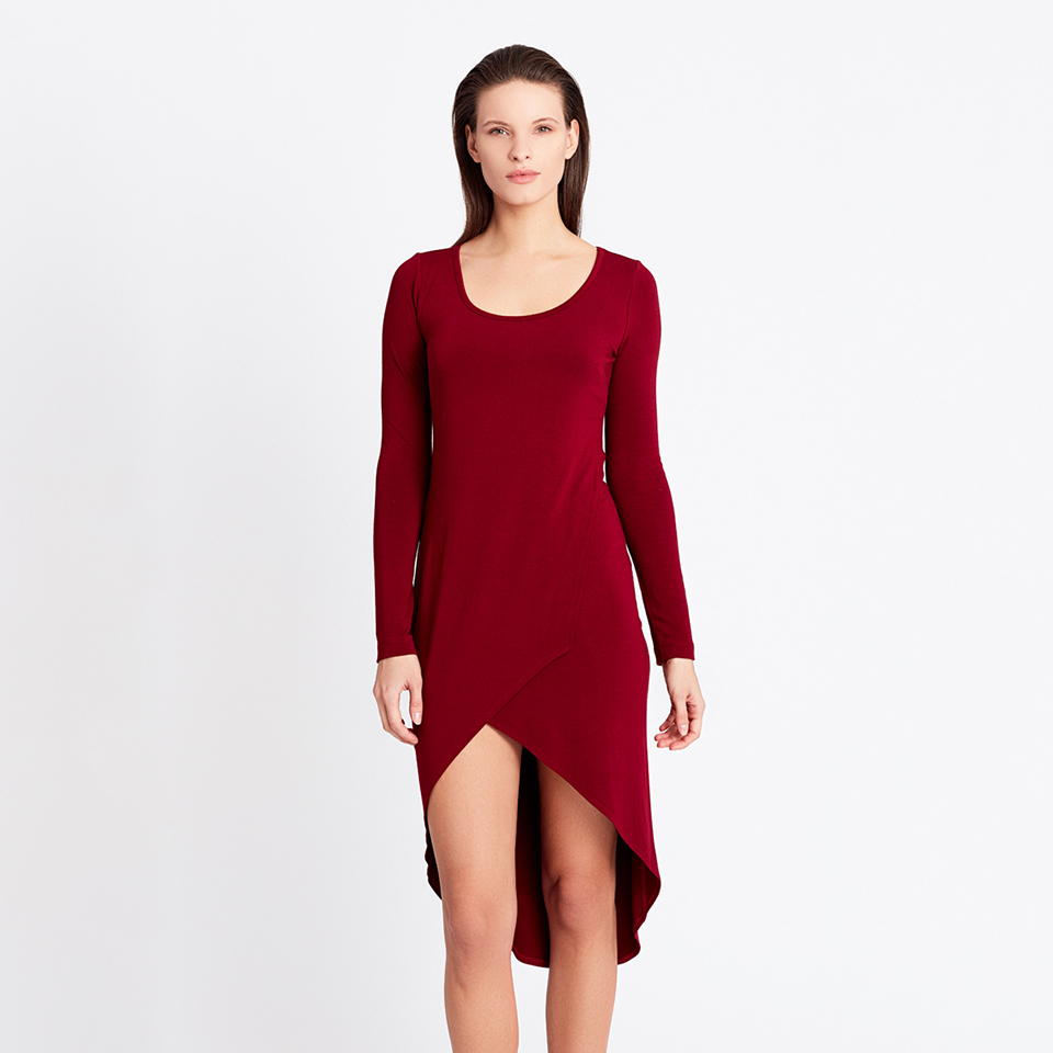 VERGE TUNIC - burgundy